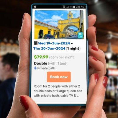 Online mobile bookings for your hotel website